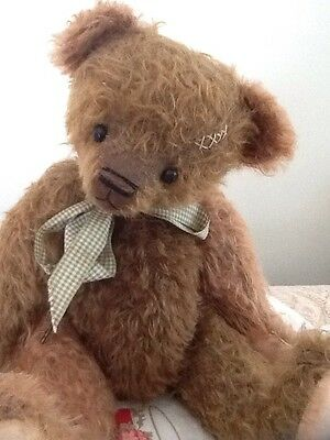 ONE OF A KIND GERMAN MOHAIR ARTIST BEAR 13 Inch BY SHERI'S COLLECTIBLE BEARS