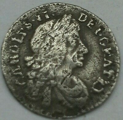 1684 CHARLES II  MAUNDY PENNY - RARE  (Ref:150)