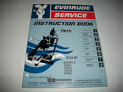 1975 Evinrude ( Johnson) Outboard 9.9 Hp  Oem Service Shop  Manual Clean