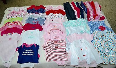 Lot of 45 Baby Girl Infant Clothes 0-3 3 Months