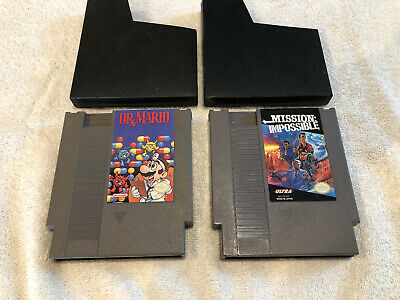 Dr. Mario & Super Mario Bros.(Nintendo NES) Game Cartridge & Dust Sleeve Lot