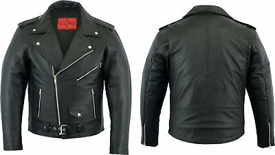 MBSmoto MOTORCYCLE SCOOTER BIKE CLASSIC FASSION LEATHER BRANDO JACKET