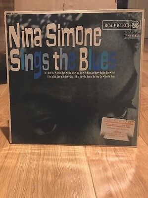 Nina Simone Sings The Blues Vinyl Lp Uk Press Ex Ex Orange Rca Victor Jazz