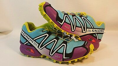 Salomon Mens Speedcross 3 Blue Athletic Contragrip Trail Running Shoes Size 9