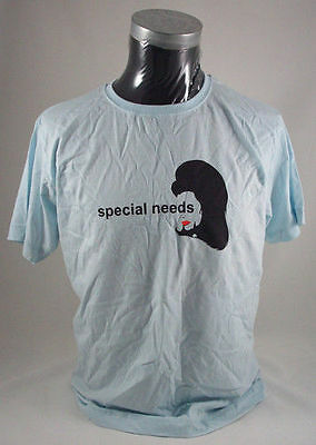 SPECIAL NEEDS Blue Skies UK ladies promo blue cotton T shirt NEW/UNWORN Medium