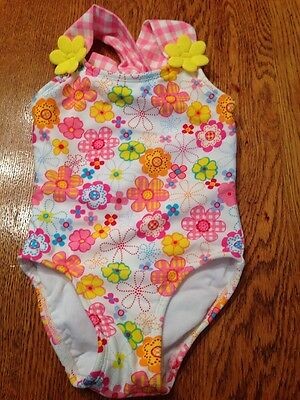 Precious little girl's BEACH NATIVE floral one-piece bathing suit 2T