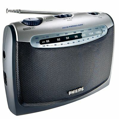 NEW PHILIPS AE2160 Portable Radio AC main and battery operation