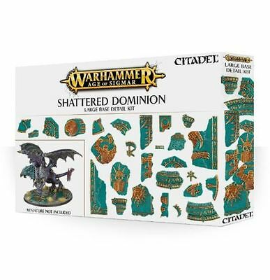 Warhammer 40k - Age of Sigmar - Shattered Dominion - Large Base Detail Kit BNIB