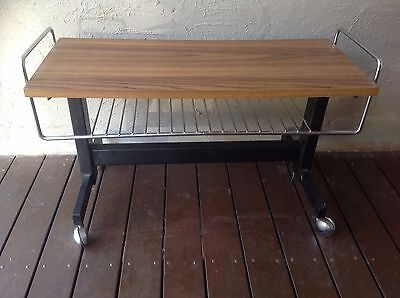 RETRO TIMBER TV television table magazine rack coffee table