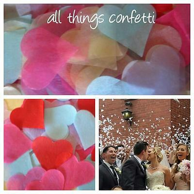 Heart Confetti - Table Scatters...   BIODEGRADABLE Wedding, (AUSSIE MADE)-