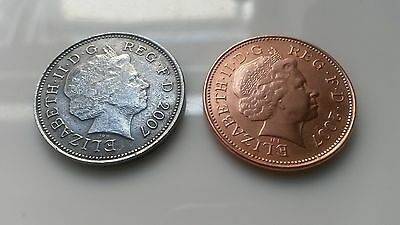 Silver 2 Pence Coin 2007 -Possible Rarer Than Kew Gardens 50p + Undated 20p coin
