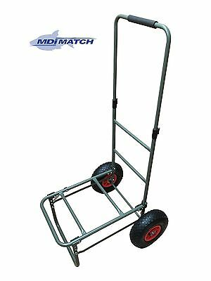 MDI Match Fishing Trolley, Extending Handle with Pneumatic Wheels