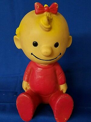 Original Baby Sally Peanuts Vinyl Doll United Feature Syndicate RARE