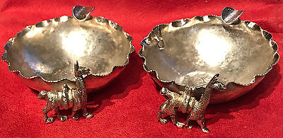 2 Vintage Peruvian 900 Silver Coin Bowl Ashtray