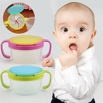 Baby Spill-Proof Bowl Dish Infant Snack Bowls Food Container Feeding Assist Food