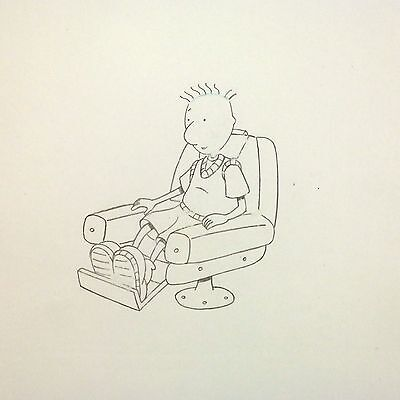 90s DOUG FUNNIE NICKELODEON Original Animation Production Cel Drawing Art