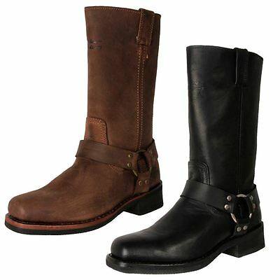 Genuine Harley-Davidson Men's Leather Tall Motorcycle Riding Boots Hustin Cheap