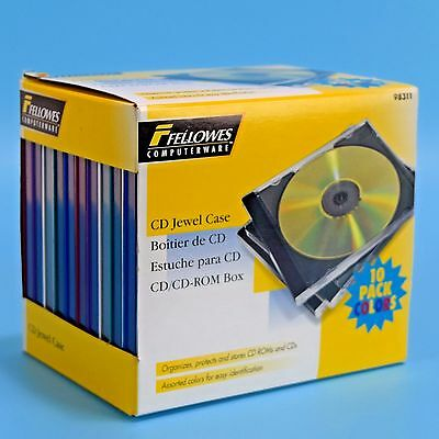 Fellowes Computerware Jewel Cases Multi Color CD DVD 10 In Pack