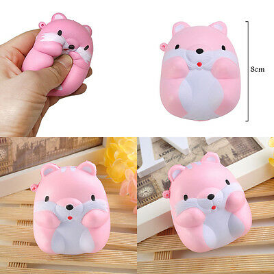 Funny Squishy Pom Pom Hamster Slow Rising Toy Squeeze Relieve Anxiet kids Gift