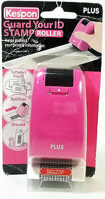 Kespon Guard Your Id Roller Stamp Plus Pink New