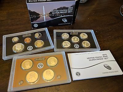 2015 US Mint Silver Proof 14 Coin Set 'S'