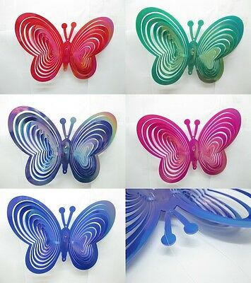 5Pcs Butterfly Wave Wind Spinner Mixed Color