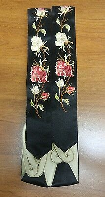 Antique Victorian Embroidered Silk Wedding Braces Suspenders Wilson Brothers1888