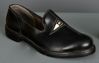 1930's Sz 4 New Old Stock Original Box Vintage Boy's Black Leather Pennant Shoes