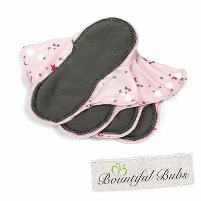 Reusable, Washable, Organic Bamboo Cloth Pads. 4 pack. Sml. Bountiful Bubs. st