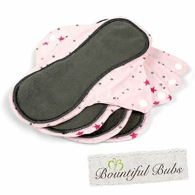Reusable, Washable Organic Bamboo Cloth Pads. Med. 4 pack. Bountiful Bubs st