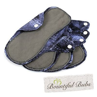 Reusable, Washable Organic Bamboo Cloth Pads. Med. 4 pack. Bountiful Bubs, dm