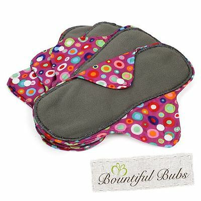 Reusable, Washable Organic Bamboo Cloth Pads Lge. 4 pack. Bountiful Bubs DT