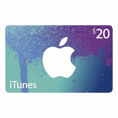 iTunes Card $20 - Code Emailed