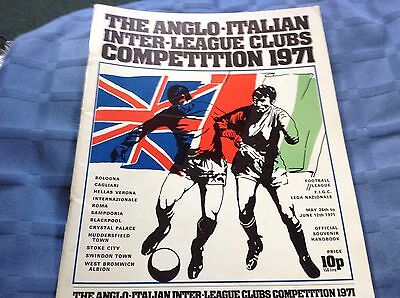 Anglo- Italian Cup 1971 Competition Official Brochure