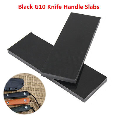 2pcs Black G10 Knife Handle Material Scales 1/4 (.25)'' x 1.5'' x 5.5'' Slabs