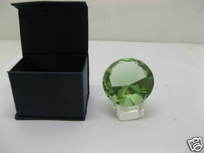 5X New 50mm Taper Green Crystal Ball with Glass Base