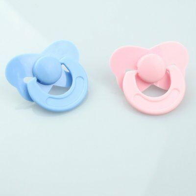 Pink Blue Pacifier Dolls Accessories not Magnetic Dummy Fit for Reborn Baby Doll