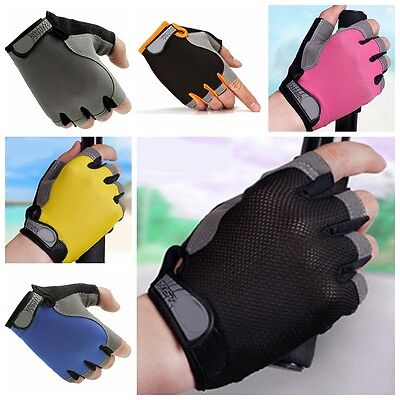 Unisex Gym Half Finger Gloves Weightlifting Workout Sports Exercise Fitness Yoga