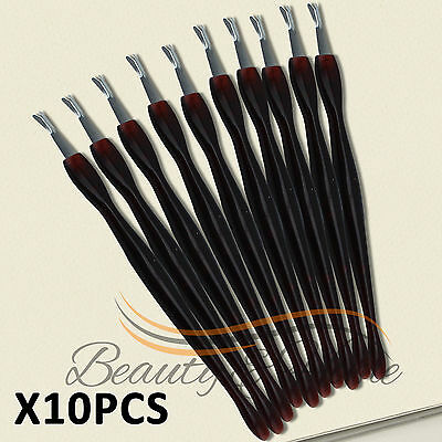 10 PCS Cuticle Pusher Trimmer Cutter Remover Pedicure Manicure Nail Art Tool Kit