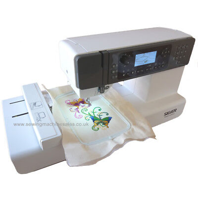 Silver Viscount Embroidery Sewing Machine Including Accessories