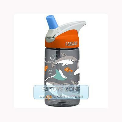 CamelBak Eddy Kids BPA Free Child Safe 400ml Water Bottle - Sharks