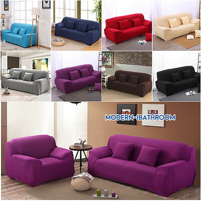 Spandex Elastic Sofa Cover Chair Couch Stretch Sette Slipcover for 1/2/3/4Seater