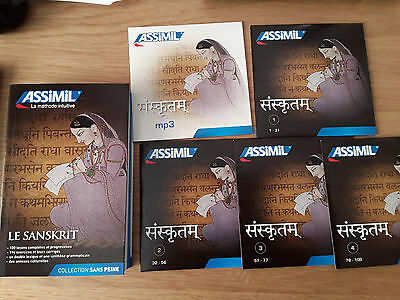 ASSIMIL Le Sanskrit Superpack Curso sánscrito francés 4 CD audio/1 mp3 sanscrito
