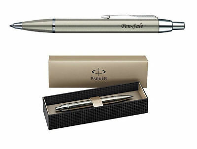 Personalised Engraved Parker IM Brushed Metal Ball Point Pen upto 30 characters