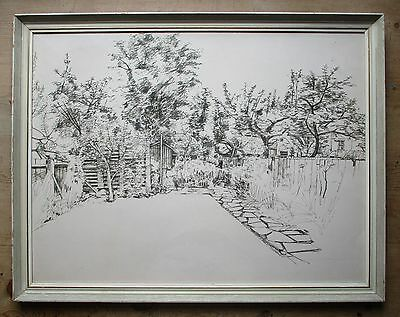 Large Original Mid 20th Century Pen & Ink Drawing-Camden Town School