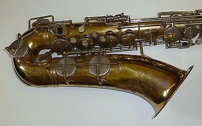 Vintage Lacquered Brass German Tenor saxophone