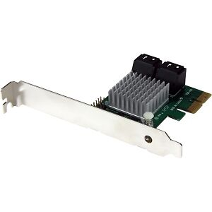 NEW! Startech 4 Port Pci Express 2.0 Sata Iii 6Gbps Raid Controller Card With Hy