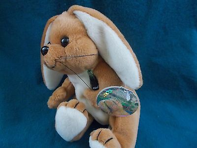 "coca-Cola collectible plush 8"" Rabbit Scotland flag 1999 coke beanie zoo animal"