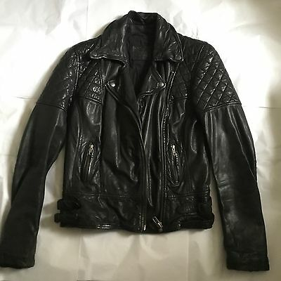 ALL SAINTS Women's Leather Biker Jacket size UK10
