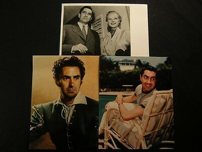Tyrone Power 3 Assorted PHOTO LOT 915H